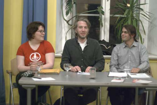 Katharina Spiel, Florian Bokor und Christof Ricardo Remmert Fontes