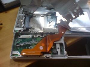 Detail eines iBooks ohne Festplatte