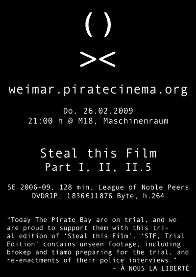 pirate cinema weimar - steal this film
